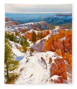 High Angle View Of Rock Formations Fleece Blanket