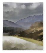 Highway Running Through The Wilderness Of The Scottish Highlands Fleece Blanket