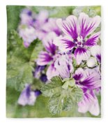 Hollyhocks Fleece Blanket