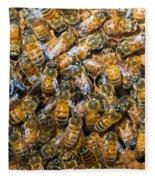 Honey Bees In Hive Fleece Blanket