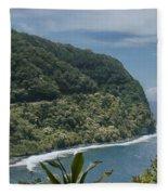 Honomanu - Highway To Heaven - Road To Hana Maui Hawaii Fleece Blanket