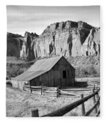 Horse Barn In Fruita Utah Fleece Blanket