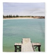Horseshoe Bay South Australia Fleece Blanket