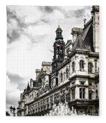 Hotel De Ville In Paris Fleece Blanket
