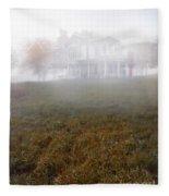 House In Fog Fleece Blanket