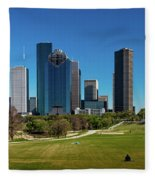 Houston, Texas - High Rise Buildings Fleece Blanket
