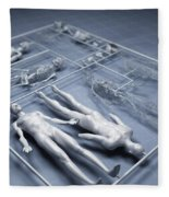 Human Cloning Fleece Blanket
