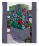 Hummingbird Traffic Signal Box Fleece Blanket