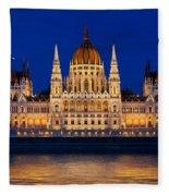 Hungarian Parliament In Budapest Fleece Blanket