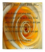 I Carry Your Heart With Me... Fleece Blanket