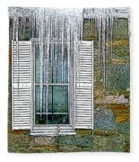 Ice By The Window Fleece Blanket