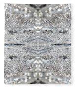 Ice Storm Abstract Fleece Blanket