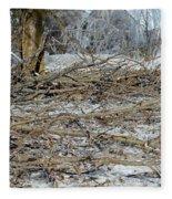 Ice Storm Poplars Fleece Blanket
