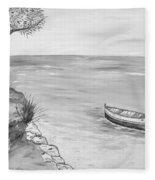 Il Pescatore Solitario Fleece Blanket
