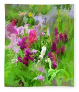 Impressions Of Spring Fleece Blanket