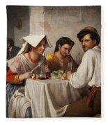 In A Roman Osteria Fleece Blanket