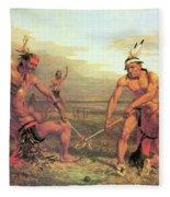 Indian Ball Game Fleece Blanket
