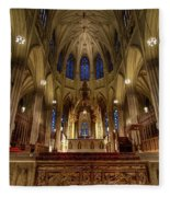 Inside St Patricks Cathedral New York City Fleece Blanket