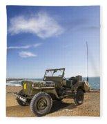 Jeep Willys Fleece Blanket