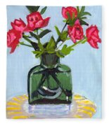 Jeff's Vase And Rodger's Roses Fleece Blanket
