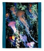 Jellyfish Forest Fleece Blanket