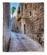 Jerusalem Street Fleece Blanket