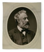 Jules Verne (1828-1905) Fleece Blanket