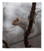 Jumping Squirrel Fleece Blanket