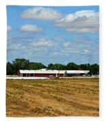 Kansas Farm Fleece Blanket