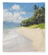Kawililipoa Beach Kihei Maui Hawaii Fleece Blanket