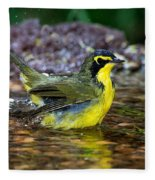 Kentucky Warbler Fleece Blanket