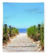 Key West Beach Fleece Blanket
