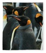 King Penguin Colony Fleece Blanket