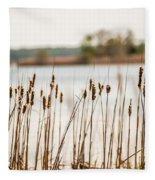 Lake Mattamuskeet Nature Trees And Lants In Spring Time  Fleece Blanket