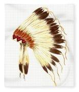 Lakota Headdress Fleece Blanket