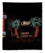 Las Vegas With Watercolor Effect Fleece Blanket