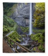 Latourell Falls Fleece Blanket