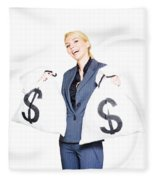 Laughing All The Way To The Bank Fleece Blanket