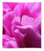 Lavender Carnation Fleece Blanket