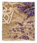Lavender Flowers And Seeds Fleece Blanket
