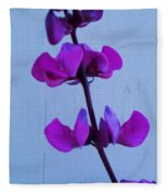 Lavender Flowers Fleece Blanket