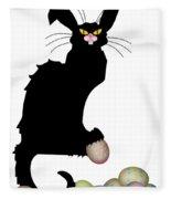 Le Chat Noir - Easter Fleece Blanket