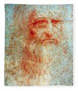 Leonardo Da Vinci (1452-1519) Fleece Blanket