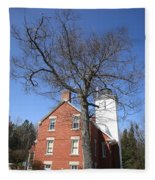 Lighthouse - 40 Mile Point Michigan Fleece Blanket