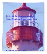 Lighthouse At Cape May Fleece Blanket