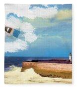 Lighthouse At Whitehaven Fleece Blanket