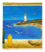 Lighthouse View Fleece Blanket