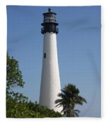 Ligthouse - Key Biscayne Fleece Blanket