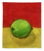 Lime With Red And Gold Fleece Blanket
