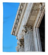 Lincoln County Courthouse Columns Looking Up 02 Fleece Blanket
